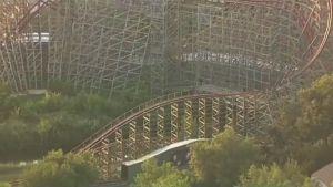 Six Flags Over Texas -huvipuiston vuoristorata Arlingtonissa 20. heinäkuuta.