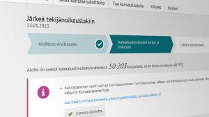 Kuva kansalaisaloite.fi-verkkosivuilta.