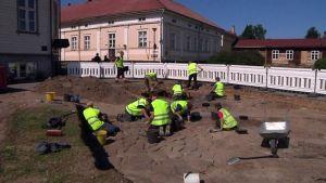 Raahen Pekkatorin arkeologiset kaivaukset 23.7.2013