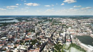 Helsinki kuvattuna ilmasta 19. kesäkuuta 2013.