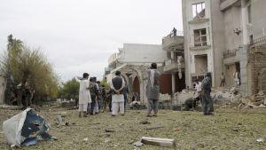 Pommi-iskun tuhoama rakennus
