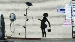 Banksyn seinämaalaus.