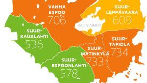 Pohjois-Espoossa menetetään elinvuosia syövän takia – tiedot suurimmista kaupungeista