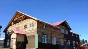 Liperin vanhaa kunnantaloa remontoidaan.
