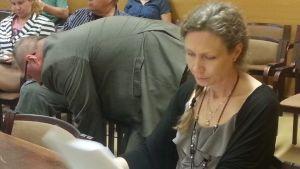 Anneli Auer kärjäoikeudessa.