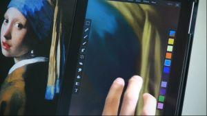 Seikou Yamaoka kopioi maalaustaiteen klassikoita iPadilla.