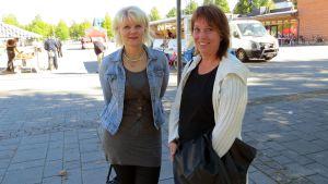 Minne menet nuori- hankkeen työvalmentajat Maria Liski ja Sari Mäntyvaara.