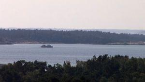 Pelastusalus Kustavin ja Uudenkaupungin välisellä merialueella.