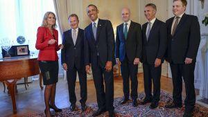 Barack Obama ja Pohjoismaiden ministerit.