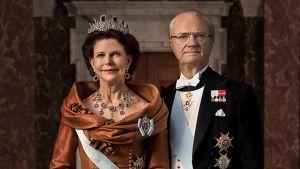 Kaarle XVI Kustaa ja kuningatar Silvia.