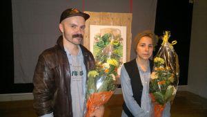 Vuoden nuori taiteilija 2014, Janne Nabb ja Maria Teeri.