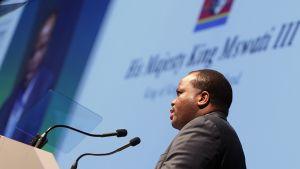 Swazimaan kuningas Mswati III helmikuussa 2012.