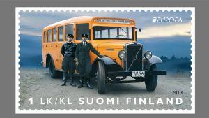 Palkittu suomalainen postimerkki.