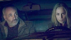 Silta-sarjan Martin (Kim Bodnia) ja Saga (Sofia Helin).
