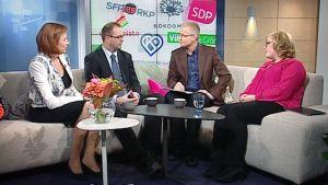 Annika Saarikko, Ville Pernaa ja Sirpa Paatero