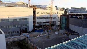 KYSin rakennustyömaa