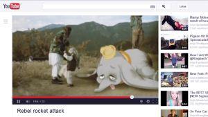 Rebel rocket attack -video YouTubessa.