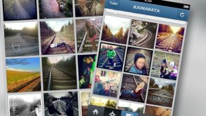 Nuoret jakavat kuvavaat itseään raiteilla ja jakavat kuvia Instagramissa.