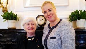 Janet Yellen ja Jutta Urpilainen
