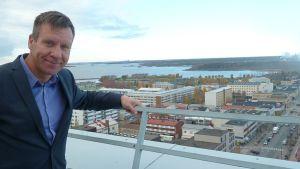 Kuvassa Lahden kaupungin keskustan kehittäjä Janne Viitamies