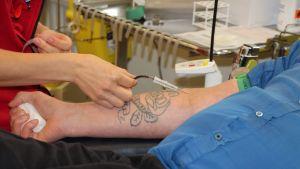 Verenluovutusta Pohjois-Karjalan veripalvelussa