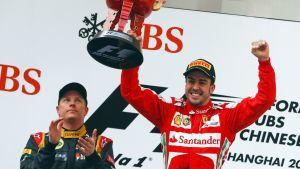 Kimi Räikkönen ja Fernando Alonso.