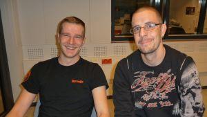 Kotkan Sinkut -ryhmän perustajat Vesa Kalliomäki ja Olli Suominen