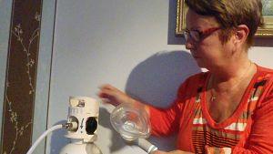 Itsemurhapäänsärystä kärsivä Teija Hautala- Allèn