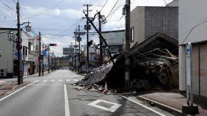 Autio Fukushiman lähellä sijaitseva Namien kaupunki.