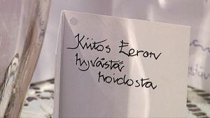 Kiitoskirje hoitajille Pirkanmaan hoitokodissa