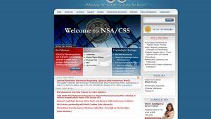 Kuvankaappaus NSA:n verkkosivuilta lauantaiaamuna Suomen aikaa.