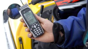 Benefon-merkkinen GPS-puhelin.