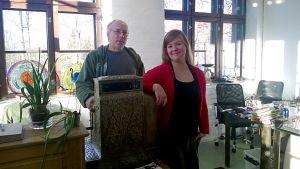 Marja Hepo-oja ja Kari Alakoski galleriassaan