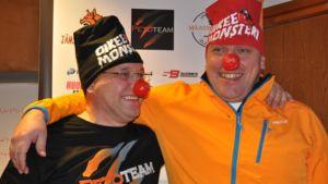 Petoteamin tallipäällikkö Mika Ström (vas.) ja Vuokatti Ski Teamin manageri Hannu Koivusalo