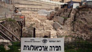 Näkymä Davidin kaupungin arkeologiselle alueelle Jerusalemissa tammikuussa 2011.