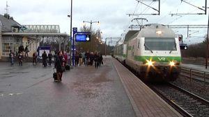 Juna saapuu Lappeenrantaan