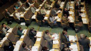 Joensuun kaupunginvaltuuston kokous vuonna 2007.