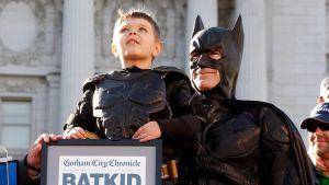 Batkidiksi pukeutunut Miles Scott San Franciscossa.