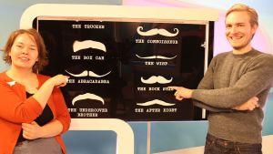 Johanna Puolitaival ja Sakke Hintsala valitsivat lempiviiksensä Movember -ehdokkaista.