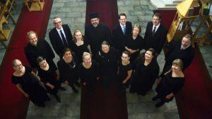 Joensuun yliopiston ortodoksinen kuoro Joensuussa seminaarin kirkossa.