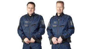 Jouni Raudus ja Esa Laukkanen poliisin virka-asuissa