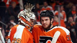 Philadelphia Flyers Ray Emery Zac Rinaldo NHL