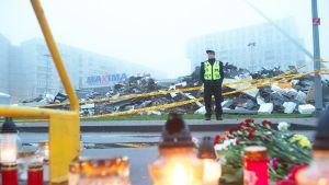 Näkymä onnettomuuspaikalle 23. marraskuuta.