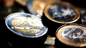 Euro-kolikoita.