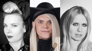Outi Pyy, Antti Asplund ja Paola Suhonen