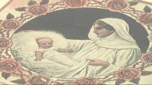 Maria ja Jeesus-lapsi lehden kannessa.