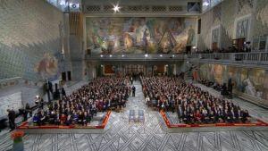 Nobelin rauhanpalkinnon jakotilaisuus alkamassa Oslossa.