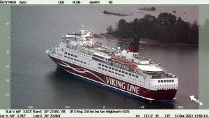 Meripelastuskeskuksen kuva Viking Amorellasta.