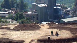 Newmontin kaivos Indonesiassa.