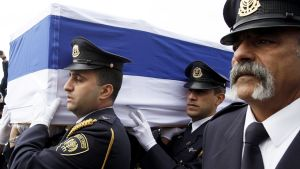 Ariel Sharonin muistotilaisuus 12. tammikuuta.